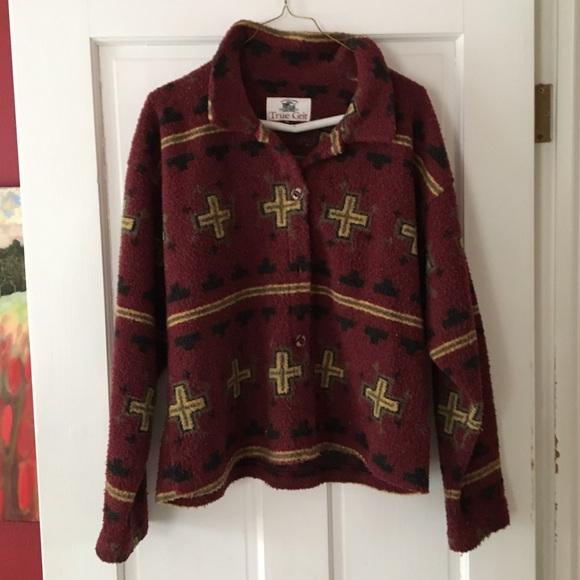 True Grit Jackets & Blazers - Women's sharp fleece jacket w buttons